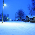 Зима улица Центральная, д. Аббакумово