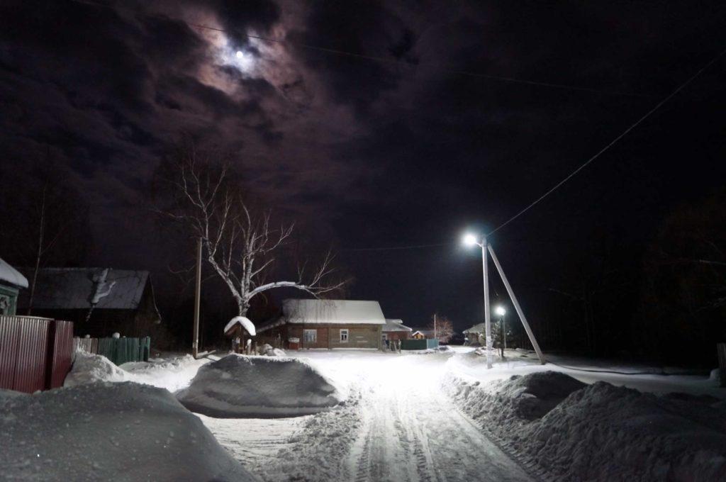 Зимний-вечер деревня Аббакумово